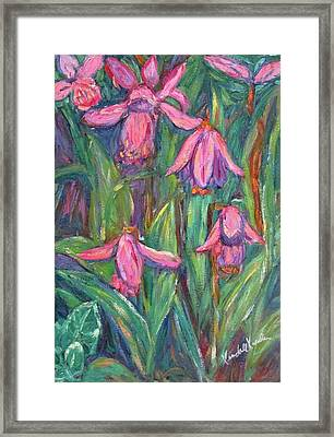 Framed Print featuring the painting Chinese Orchids by Kendall Kessler