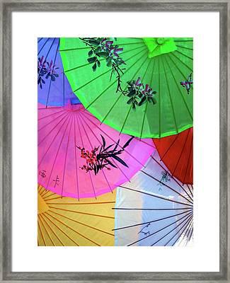 Chinese Parasols Framed Print