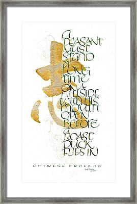 Chinese Proverb Framed Print by Judy Dodds