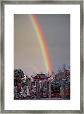Chinese Reconciliation Park Rainbow Framed Print