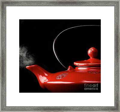 Chinese Red Teapot Framed Print