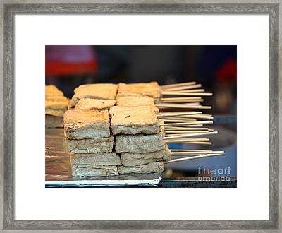 Chinese Smelly Tofu Snack Framed Print