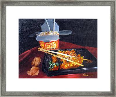 Chinese Take Out Framed Print by LaVonne Hand