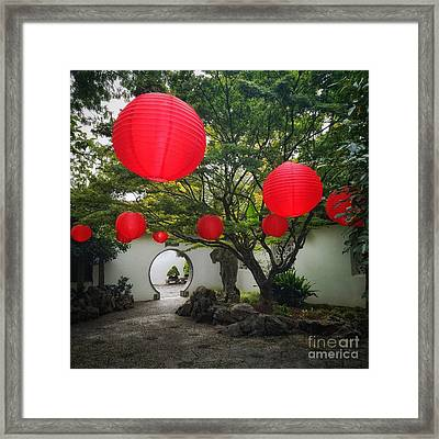 Chinese Tea Garden In Portland, Oregon Framed Print
