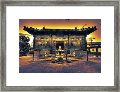 Chinese Temple Framed Print by Wayne Sherriff
