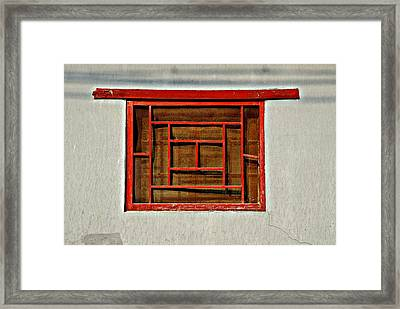 Chinese Window Framed Print