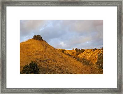 Framed Print featuring the photograph Chino Hills And Clouds by Viktor Savchenko