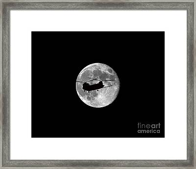 Chinook Moon .png Framed Print by Al Powell Photography USA