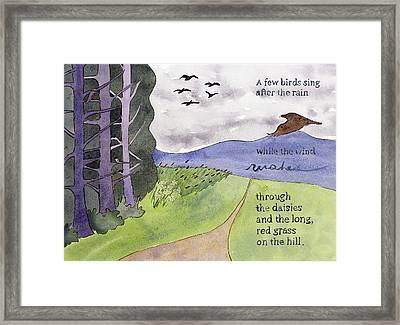 Chip Ross Park Walk Framed Print by Alexandra Schaefers