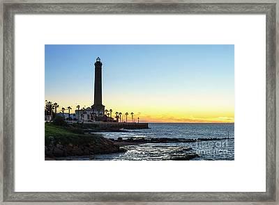 Chipiona Lighthouse Cadiz Spain Framed Print by Pablo Avanzini