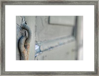 Chipped Latch Framed Print