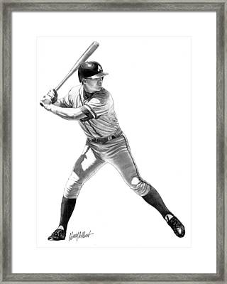 Chipper Jones Framed Print by Harry West