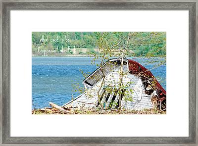 Chippewa Lake Park Now 1 Framed Print