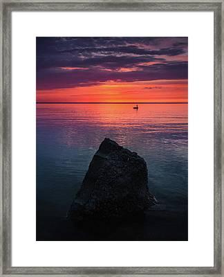 Chippewa Park Sunrise Framed Print by Cale Best
