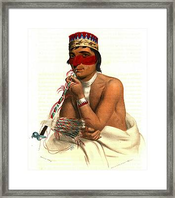 Framed Print featuring the photograph Chippeway Chief 1836 by Padre Art