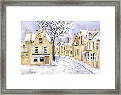 Chipping Campden In Snow Framed Print by Scott Nelson