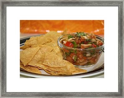 Chips And Salsa Framed Print by Karen Scovill