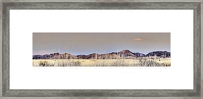 Chiracahuas Panorama Framed Print by Sharon Broucek