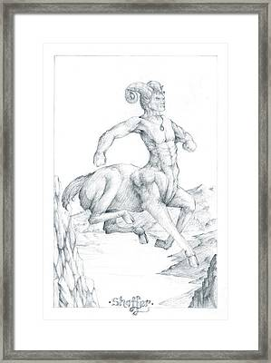 Chiron The Centaur Framed Print by Curtiss Shaffer