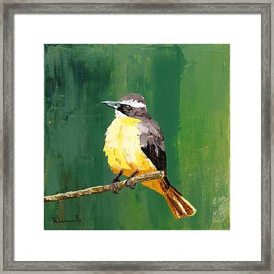 Chirping Charlie Framed Print