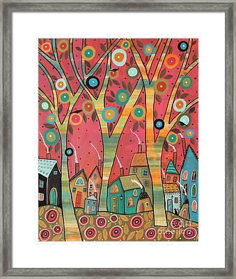 Chirpy Village 1 Framed Print by Karla Gerard