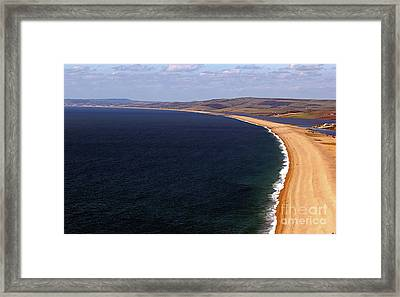Framed Print featuring the photograph Chesill Beach Dorset by Baggieoldboy