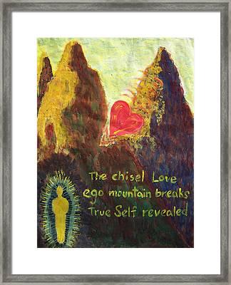 Chisel Version Framed Print