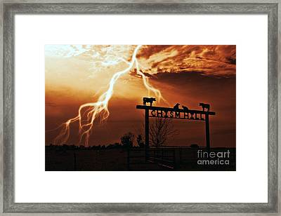 Chism Hill Framed Print