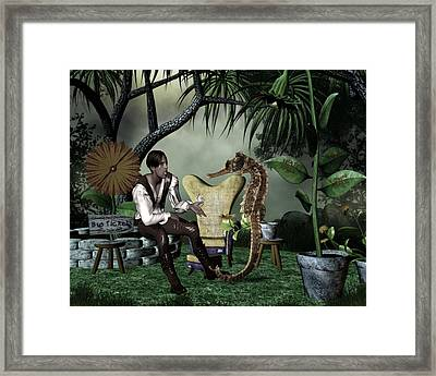 Chit Chat Framed Print