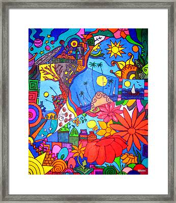 Chitchat Framed Print by MikAn 'sArt