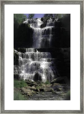 Chittenango Falls Framed Print by DigiArt Diaries by Vicky B Fuller