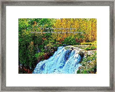 Framed Print featuring the photograph Chittenango Falls, Ny Mother Teresa  by Diane E Berry