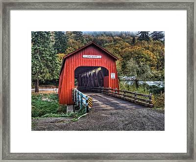 Chitwood Covered Bridge Framed Print