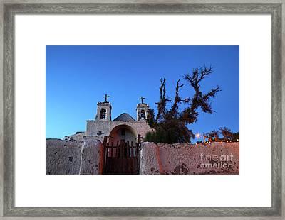 Chiu Chiu Church At Twilight Chile Framed Print by James Brunker