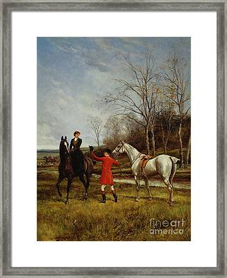 Chivalry Framed Print by Heywood Hardy