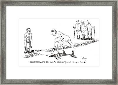 Framed Print featuring the drawing Chivalry by R  Allen Swezey