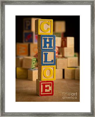 Chloe - Alphabet Blocks Framed Print by Edward Fielding