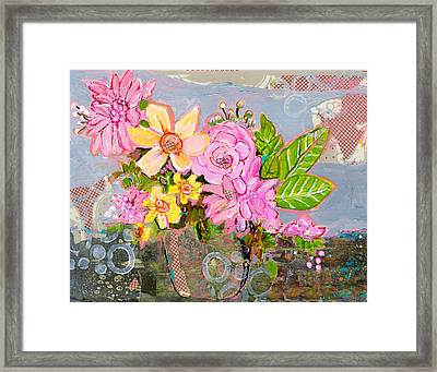 Chloe Rose Flowers Framed Print by Blenda Studio