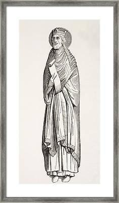Chlothar I, Or Clotaire, Born C. 497 Framed Print by Vintage Design Pics