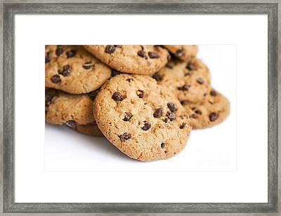 Choc Chip Cookie Mound Framed Print