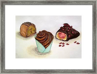 Chocolate Addiction Framed Print by Jo lan Tao