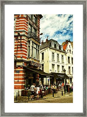 Chocolate And Beer In Brussels Framed Print