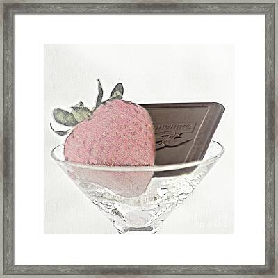 Chocolate And Strawberry Martini Framed Print