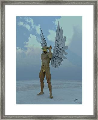 Chocolate Angel Framed Print