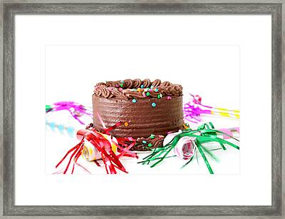 Chocolate Cake Framed Print by Darren Fisher