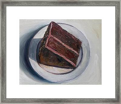 Chocolate Cake Framed Print by John Kilduff