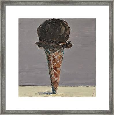Chocolate Cone Framed Print