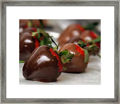 Chocolate Covered Strawberries 2 Framed Print by Andee Design