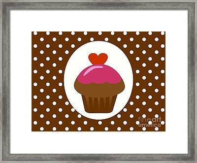 Chocolate Cupcake  Framed Print by Kourai