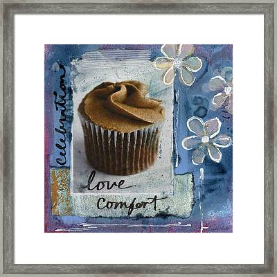 Chocolate Cupcake Love Framed Print by Linda Woods